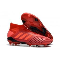 Botas de Fútbol adidas Predator 19.1 FG Hombre - Rojo