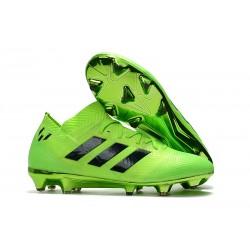 adidas Nemeziz Messi 18.1 FG Botas de Fútbol con Tacos Verde Negro
