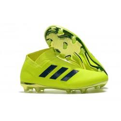 Zapatillas de Fútbol adidas Nemeziz 18 + FG Verde Negro