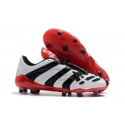 Botas De Futbol Adidas Predator Accelerator FG - Blanco Negro Rosso