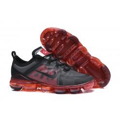 Zapatillas Nike Air VaporMax 2019 Para Hombres Negro Rojo