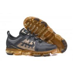 Zapatillas Nike Air VaporMax 2019 Para Hombres Negro Oro