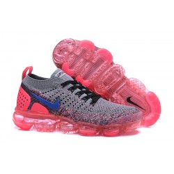 Zapatillas Nike Air VaporMax Flyknit 2 Para Mujer - Gris Rosa