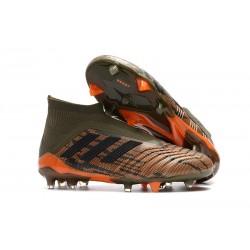 Adidas Predator 18+ FG Botas de Fútbol para Hombre - Verde Naranja