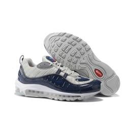 Zapatilla Nike Supreme x NikeLab Air Max 98 - Gris Cian