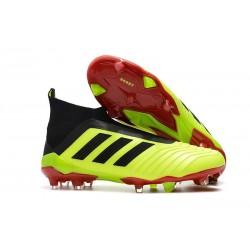 Adidas Predator 18+ FG Botas de Fútbol para Hombre - Amarillo Negro