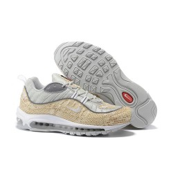 Zapatilla James Nike Supreme x NikeLab Air Max 98 - Blanco Oro
