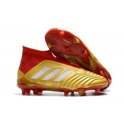 Zapatillas de Fútbol Adidas Predator 18+ FG - Oro Rojo
