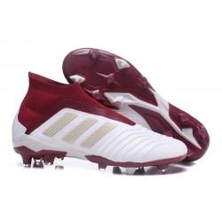 Zapatillas de Fútbol Adidas Predator 18+ FG - Blanco Rojo
