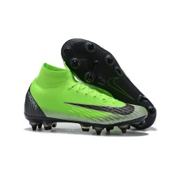 Nike Zapatos Mercurial Superfly 6 Elite SG-Pro AC Verde Negro