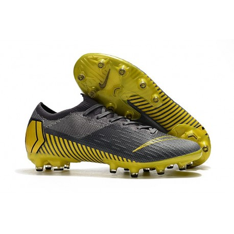 Nike Mercurial Vapor XII Elite AG-PRO Zapatos - Gris Amarillo