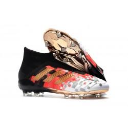 Zapatillas de Fútbol Adidas Predator 18+ FG - Negro Rojo Oro