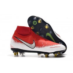 Nike Phantom VSN Elite DF SG-Pro Anti Clog Rojo Blanco