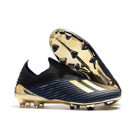 Zapatillas de Tacos Adidas X 19+ FG Negro Oro Azul