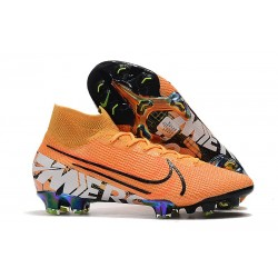 Zapatillas Nike Mercurial Superfly 7 Elite FG Naranja Blanco
