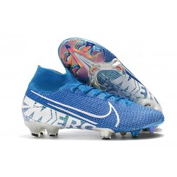 Zapatillas Nike Mercurial Superfly 7 Elite FG Azul Blanco Obsidiana