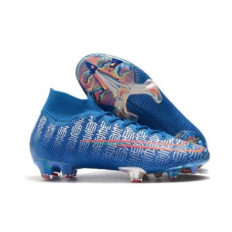 Zapatillas Nike Mercurial Superfly 7 Elite FG Azul Rojo