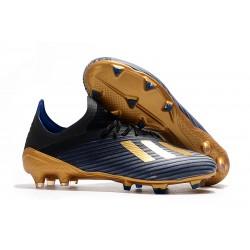 Adidas Botas de Futbol X 19.1 FG Azul Oro Negro