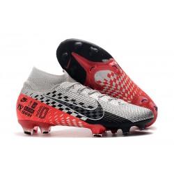 Neymar Nike Mercurial Superfly 7 Elite FG Cromado Negro Rojo Platino