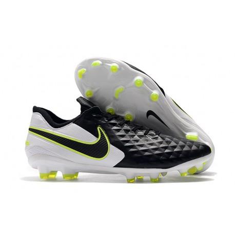 Tacos de Futbol Nike Tiempo Legend 8 Elite FG Negro Blanco Voltio