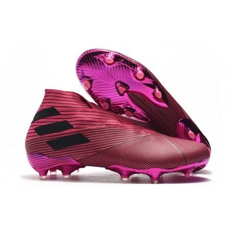 Zapatos de Fútbol adidas Nemeziz 19+ FG Rosa Negro