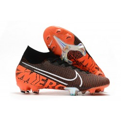 Nike Zapatos Mercurial Superfly VII Elite SE FG Negro Blanco Hyper Crimson