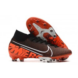 Nike Zapatillas Mercurial Superfly 7 Elite AG-Pro Negro Hyper Crimson