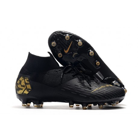 Nike Zapatillas Mercurial Superfly 7 Elite AG-Pro Negro Oro