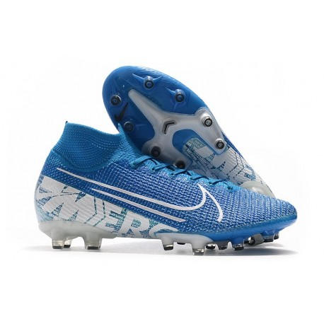 Nike Zapatillas Mercurial Superfly 7 Elite AG-Pro Azul Blanco