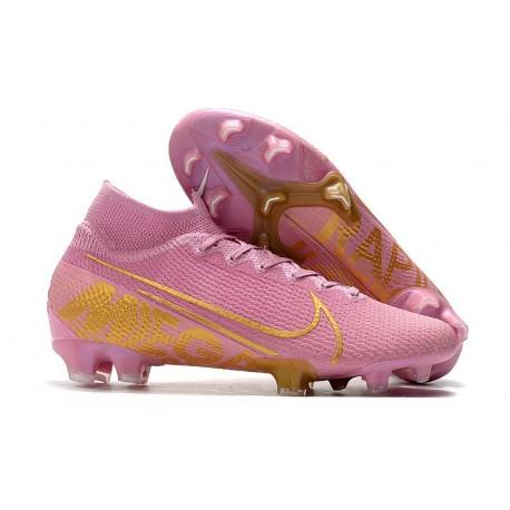 Nike Zapatos Mercurial Superfly VII Elite SE FG Rosa Oro