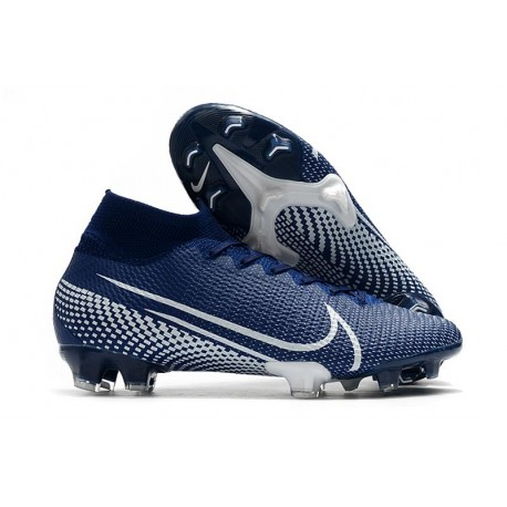 Nike Zapatos Mercurial Superfly VII Elite SE FG Azul Blanco