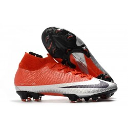 Zapatilla Nike Mercurial Superfly 7 Elite DF FG Future DNA Rojo Plata