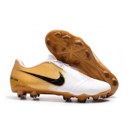 Nike Zapatillas de Futbol Phantom Venom Elite FG Blanco Oro Negro