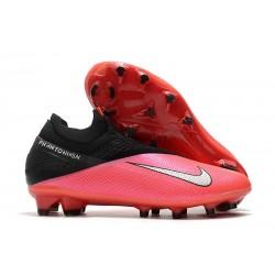 Bota Fútbol Nike Phantom VSN 2 Elite DF FG -Laser Crimson Plata Negro