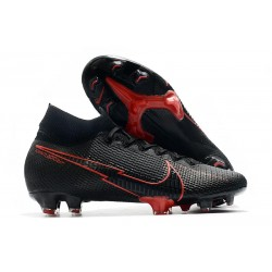 Zapatilla Nike Mercurial Superfly 7 Elite DF FG Negro Rojo
