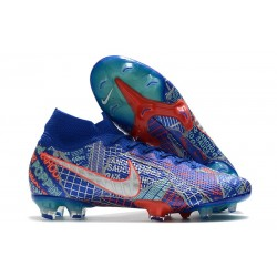 Nike Mercurial Superfly 7 Elite FG Sancho SE11 Azul Rojo Blanco