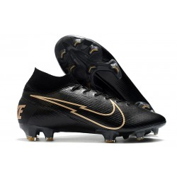 Nike Mercurial Superfly VII Elite FG Negro Oro