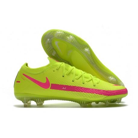 Tacos de Futbol Nike Phantom GT Elite FG - Amarillo Rosa
