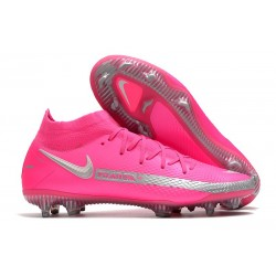Nike Zapatilla Phantom GT Elite Dynamic Fit FG Rosa Plata