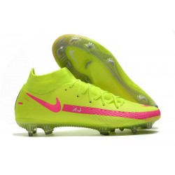 Nike Zapatilla Phantom GT Elite Dynamic Fit FG Verde Rosa