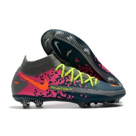 Nike para Hombre para Fútbol Phantom Gt Elite Df Fg Armada Gris Rosa