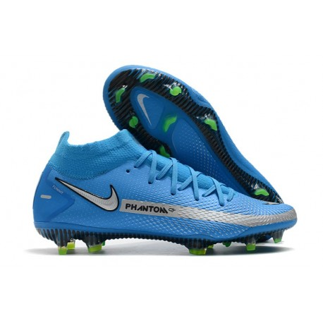 Nike para Hombre para Fútbol Phantom Gt Elite Df Fg Azul Plata