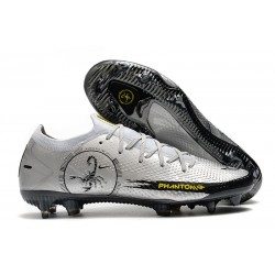 Nike 2021 Phantom Scorpion Elite FG Plata Negro