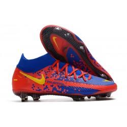 Nike para Hombre para Fútbol Phantom Gt Elite Df Fg Azul Rojo Amarillo
