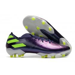 Nuevas Botas adidas Nemeziz Messi 19.1 FG Violeta Verde