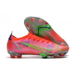 Zapatos Nike Mercurial Vapor 14 Elite FG Carmesi Plateado Metalizado