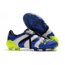 Botas De Futbol Adidas Predator Accelerator FG - Azul Blanco Amarillo