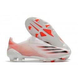 Bota de Fútbol adidas X Ghosted + FG Bianco Rosso Negro