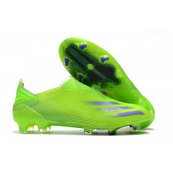 Bota de Fútbol adidas X Ghosted + FG Verde Tinta Energía